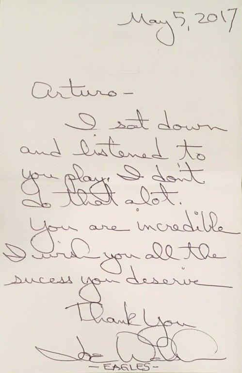 Letter from Joe Walsh - Eagles