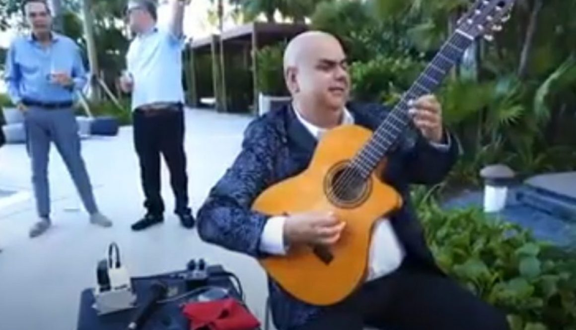 Arturo Romay Performing at the Auberge Beach Resort, Fort Lauderdale, FL, USA